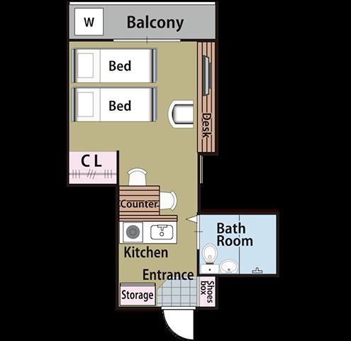 Minpaku Rotary floor plan